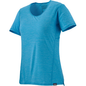 Patagonia Capilene Cool Lightweight Shirt Women, joya blue - dark joya blue x-dye